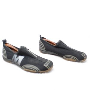 Merrell Shoes - Merrell Barrado Black Mesh Zip Up Sneakers Sz 8.5